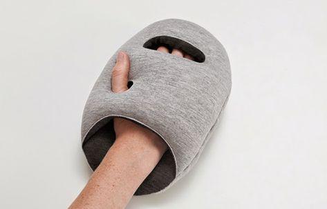 Reisekissen Ostrich Pillow Fur Ein Nickerchen Unterwegs Oder Im