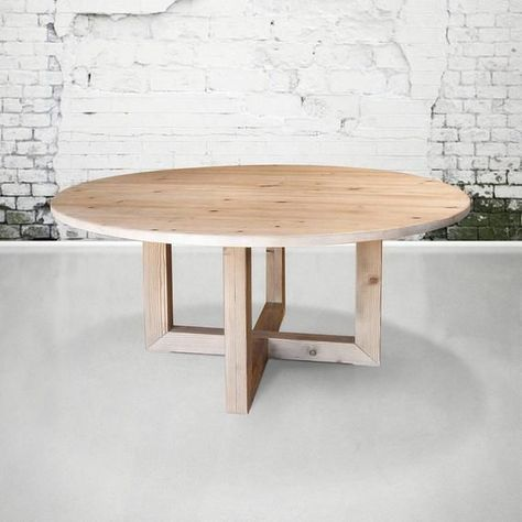Table Round Table Dining Table Reclaimed Wood Kitchen Table