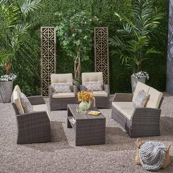 Tribeca 4 Piece Rattan Sofa Seating Group With Cushions Furniture Sofa Set Outdoor Furniture Sets Outdoor Wicker Patio Furniture