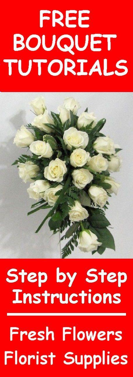 Fresh Flower Wedding Bouquet - Easy DIY Flower Tutorials Learn how ...