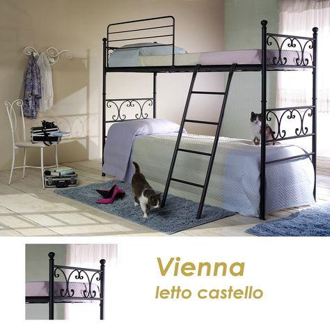 Letto A Castello Struttura.Letto A Castello Vienna Struttura In Ferro Conificato E Tondino