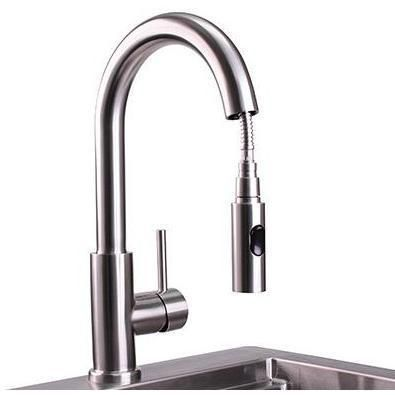 Lynx Professional Outdoor Rated Single-Handle Pull-Down Gooseneck ...
