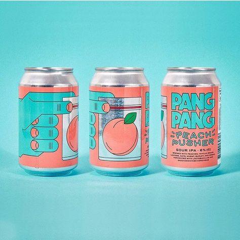 Pang pang peach pusher Food Packaging Design, Beverage Packaging, Bottle Packaging, Print Packaging, Packaging Design Inspiration, Graphic Design Inspiration, Branding Design, Coffee Packaging, Illustration Inspiration