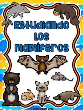Unidad De Estudio De Los Mamíferos Incluye Carteles Informativos Worksheets 2 Actividades Para Libreta Interactiva Caract Mammal Unit Mammals The Unit
