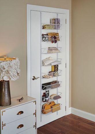 9 Ways To Maximize Space In A Tiny Bedroom Hanging Rack For Your Bedroom Door Diy Bedroom Storage Small Bedroom Organization Small Room Design
