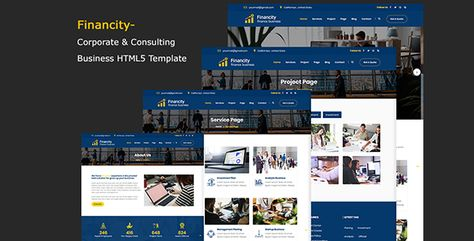 Financity - Corporate & Consulting Business Template