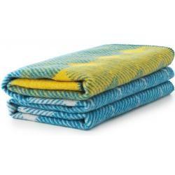Decken Wolldecke Gelb Und Blau