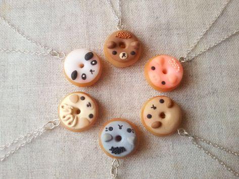 Tier Donut Halskette Essen Miniatur-Lebensmittel-Schmuck
