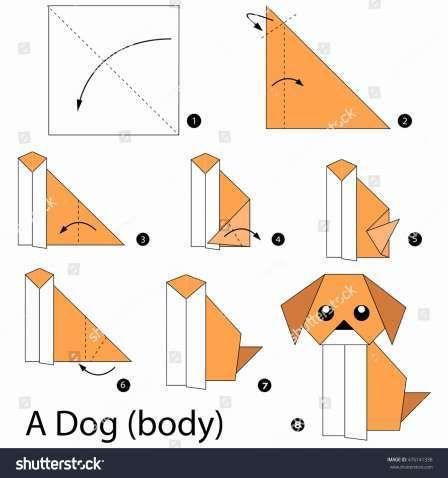 Origami Dog Face | 478x448