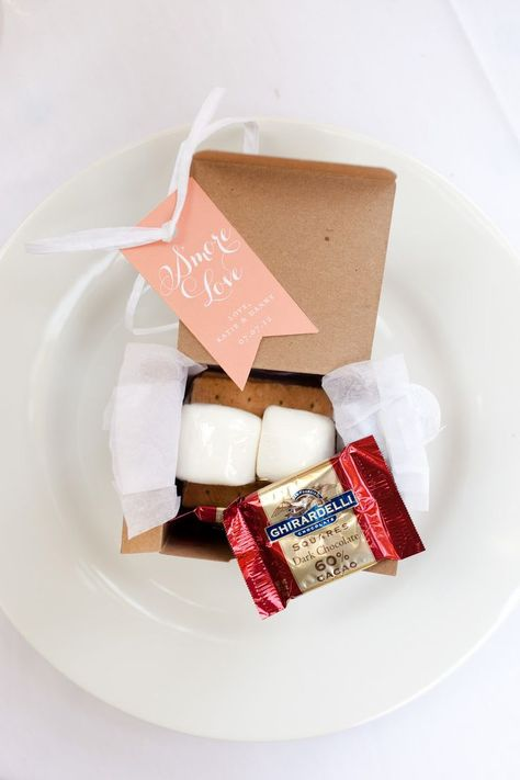 smores kit - with fire pit outside on the terrace