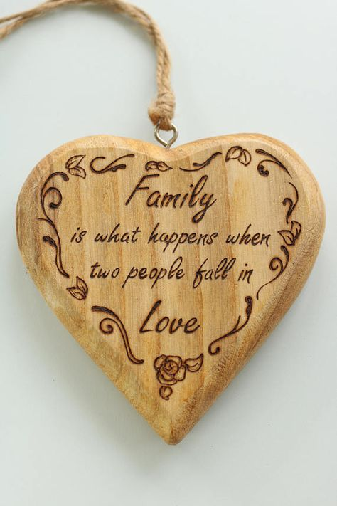Family Is What Happens When Two People Fall In Love Rustic Heart Unique Hand Drawn Customisable Gift For A Wedd