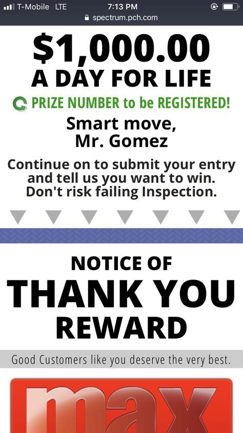 I Jose Carlos Gomez Want Pch Win For Life Pch Sweepstakes