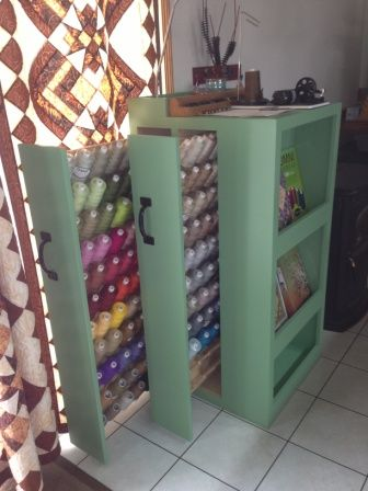 High Quality Long Arm Thread Storage Custom Made By The Quilters Hubby. | Sewing Room  Ideas | Pinterest | Thread Storage, Storage And Sewing Rooms