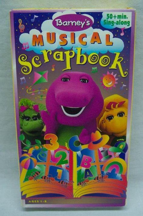 Vintage 1997 Barney S Musical Scrapbook Vhs Video Movie Etsy In 2021 Barney Friends Musicals Barney