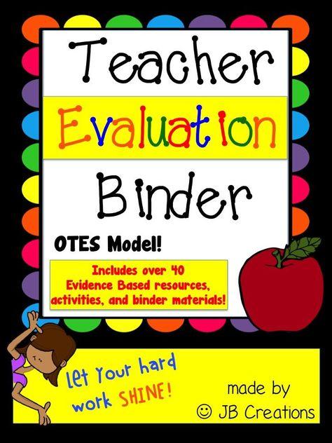 Danielson Teacher Evidence Binder Evaluation {EDITABLE} Organizers - teacher evaluation