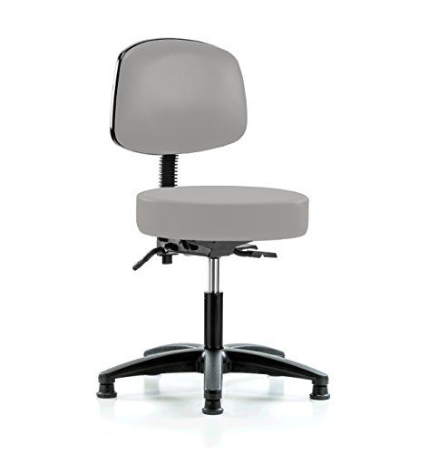 Perch Walter Doctor Stool With Back Support Stationary Caps Desk