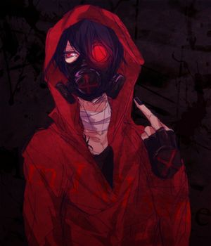 Anime/manga gas mask badass...