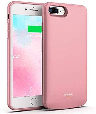 Amazon Com Swaller Battery Case For Iphone 8 Plus 7 Plus 5500mah Slim Portable Charger Case Extend 150 Batt Portable Charger Case Iphone 8 Plus Iphone Cases