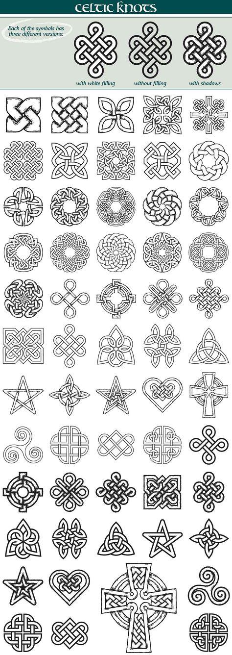 Celtic Knots Symbols by iz on