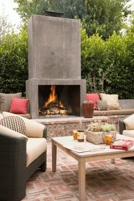 15 Of The Most Fabulous Outdoor Fireplace Ideas Outdoor