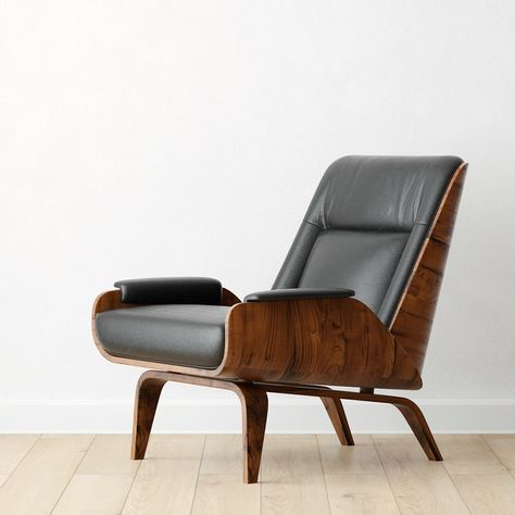 Astonishing Paulo Bent Ply Leather Chair Alphanode Cool Chair Designs And Ideas Alphanodeonline