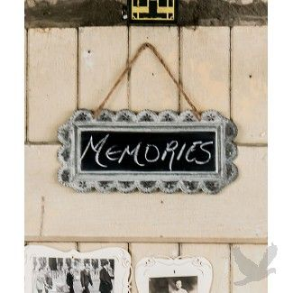Large Scalloped Frame Tin Sign with Chalkboard