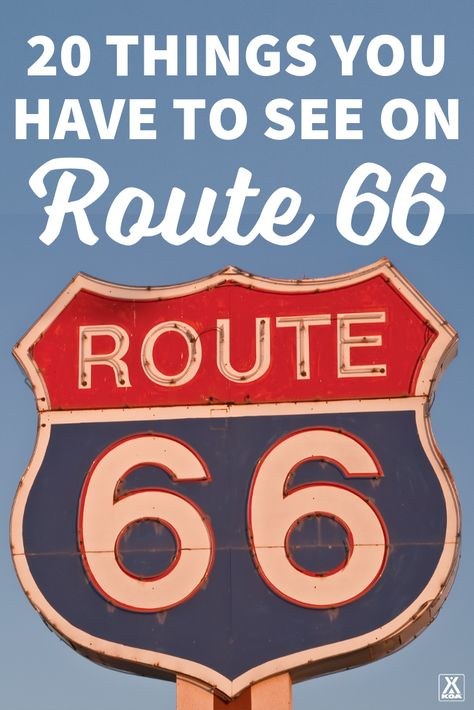 Take a classic American road trip down route 66 and make sure to stop at these awesome spots. Take a classic American road trip down route 66 and make sure to stop at these awesome spots. Route 66 Attractions, Road Trip Map, Route 66 Road Trip, Travel Route, Road Trip Hacks, Travel Maps, Travel Usa, Texas Travel, Roadtrip Tips