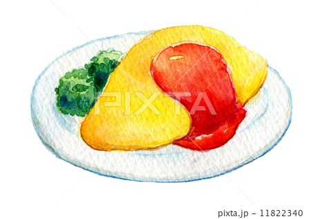 食べ物のイラスト素材 pixta 2021 オムライス イラスト 食べ物 イラスト イラスト