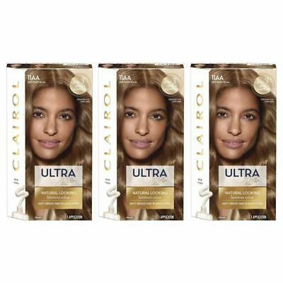 Ad 3 X Clairol Nice N Easy Permanent Hair Dye 11aa Ultra Lift