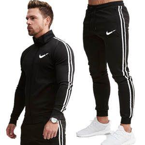 2019 Nuevo Conjunto Deportivo Para Hombre Con Estampado De Moda Chandal De Primavera Sudadera Con Capu Ropa Adidas Hombre Chandal Para Hombre Ropa Gym Hombre