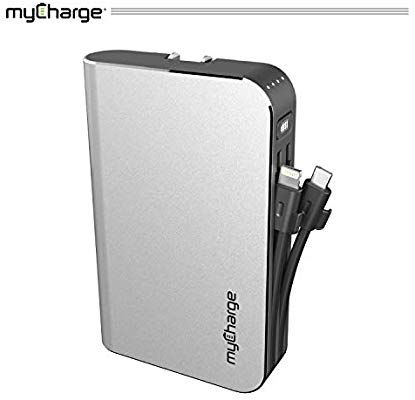 Amazon Com Mycharge Portable Charger Power Bank Hubmax 10050 Mah External Battery Pack Wall Char Portable Charger For Iphone Portable Charger Battery Pack