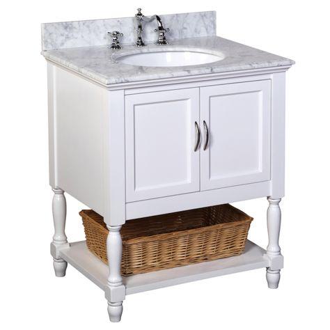 Beverly 30-inch Vanity (Carrara/White)