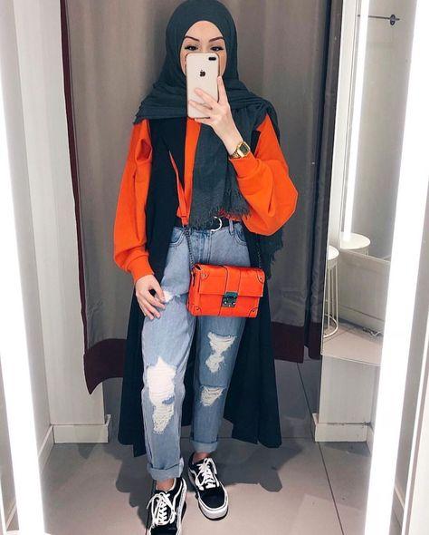 أزياء الفاشونيستا للمحجبات , ملابس ع الموضه للمحجبات 2021 3de68a4d3328eb4d1e46