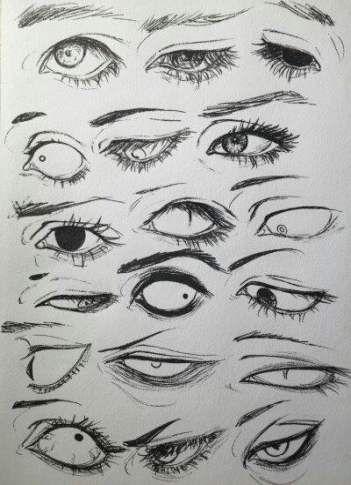 56 Best Ideas Eye Drawing Creepy Artdrawingcreepy Creepy Drawing Eye Ideas In 2020 Eye Drawing Art Sketches Art Reference