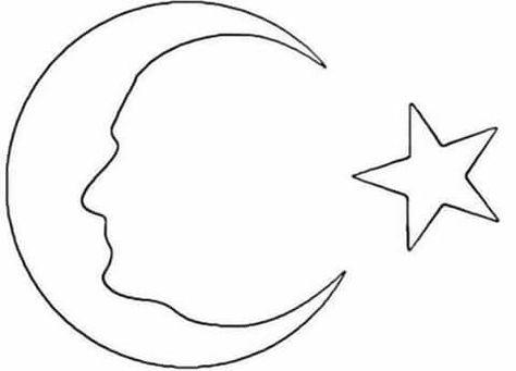 Ay Yildiz Ataturk Cadilar Bayrami Fikirleri Boyama Sayfalari