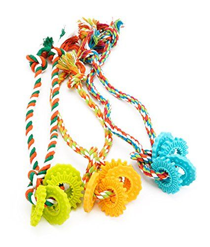 Marupet 3 Rope Dog Toys For Small To Medium Dogs Interactive Tug