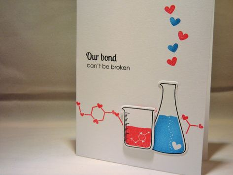 Valentine's Day Card, Valentine Card, Anniversary Card, I Love You Card, Geek Card, Science Beaker