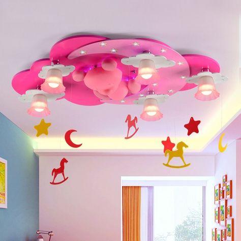 werbung | Süsse rosa Kinderzimmer Deckenlampe mit Bärchen ...