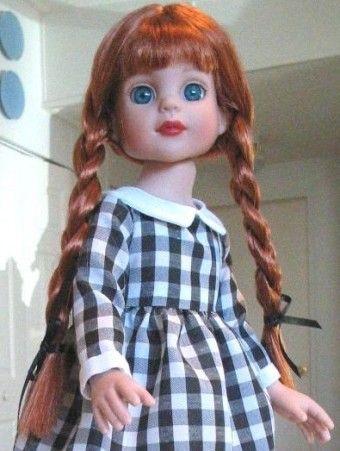 """Linda Lenhardt's Anne of Green Gables: """"Janette dressed for Halloween as Anne."""" #dolls"""
