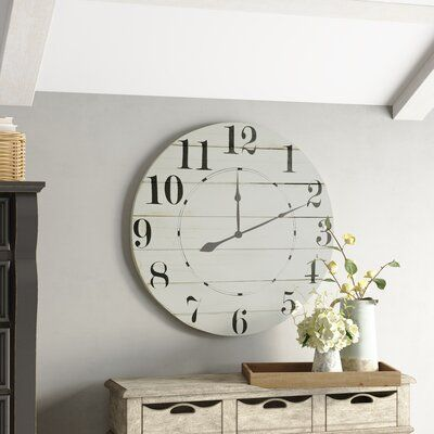 Pin By Berry Belle Interiors On Bedroom Oversized Wall Clock Clock Wall Decor Farmhouse Wall Clocks