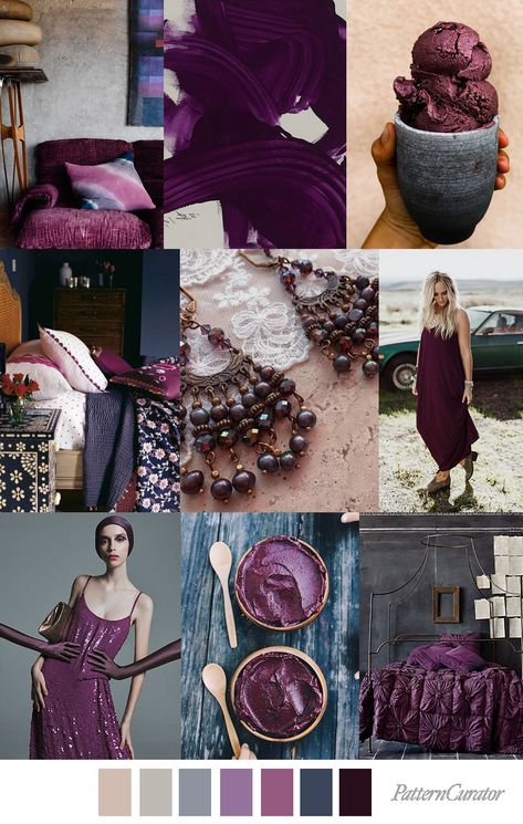 ACAI BERRY - color, print & pattern trend inspiration for Spring / ...