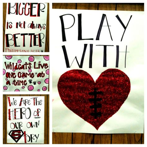 Senior night - just a few more signs we made...making their year as memorable as possible