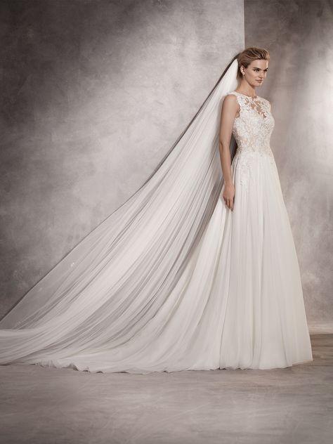 atlantis es un delicado y fino vestido de novia por confección de