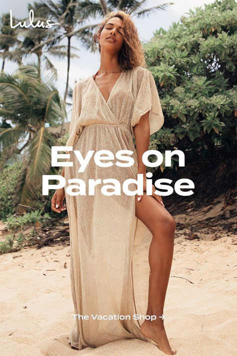 At Lulus you will find a wide variety of all of your vacation must-haves, like comfy, lightweight dresses, cute tops, denim shorts, and much more! We also have the most on-trend sandals and other accessories to make your outfit pop.
