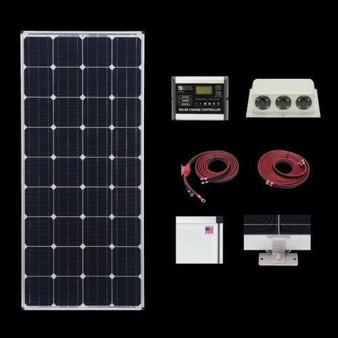 Zamp 170 Watt Deluxe Solar Kit Solar Kit Solar Panels Solar Energy Panels