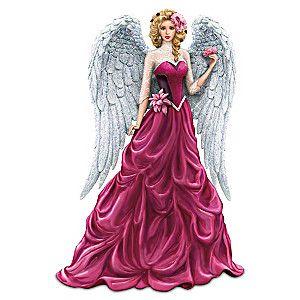 Hopeful Radiance on Wings of Hope Angel  Nene Thomas Bradford Exchange  Figurine