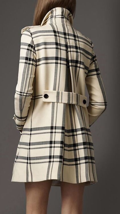 Love this Burberry trench - black and cream plaid trench coat - possibly the perfect winter coat.