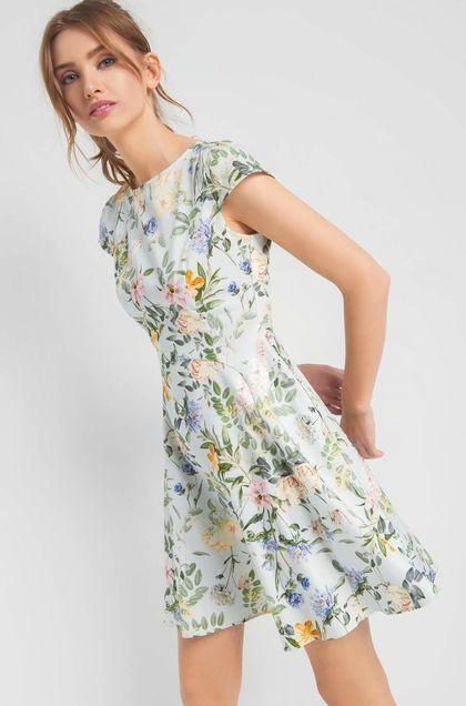 Sukienka W Kwiaty Orsay Floral Fashion Fashion Short Sleeve Dresses