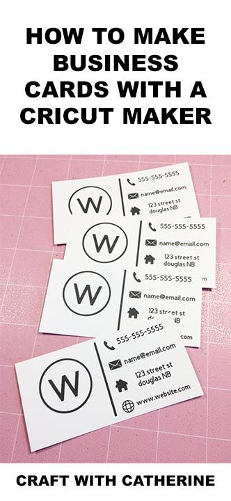 How To Make Business Cards On Your Cricut Maker Craft With Catherine In 2021 Make Business Cards Small Business Cards Printing Business Cards