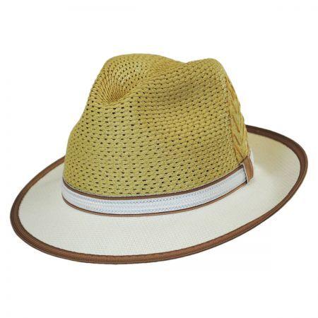c8dd7d7fab7e5 New Santana Mens Straw Sacred Fire Fedora Hat